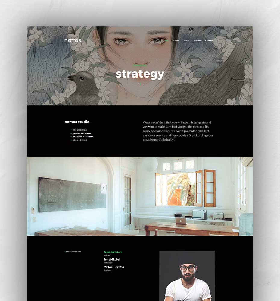 creative portfolio template – Namos